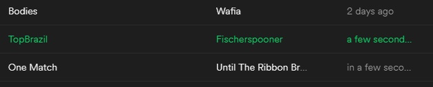 "screenshot of a Spotify playlist showing a song added ""in a few seconds"""