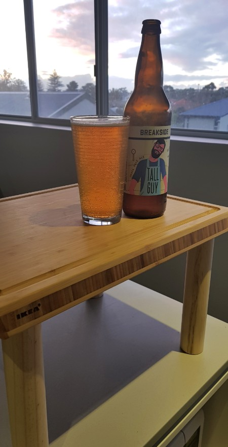Breakside Tall Guy IPA on the Official Bradism Raised Cutting Board for Tall People