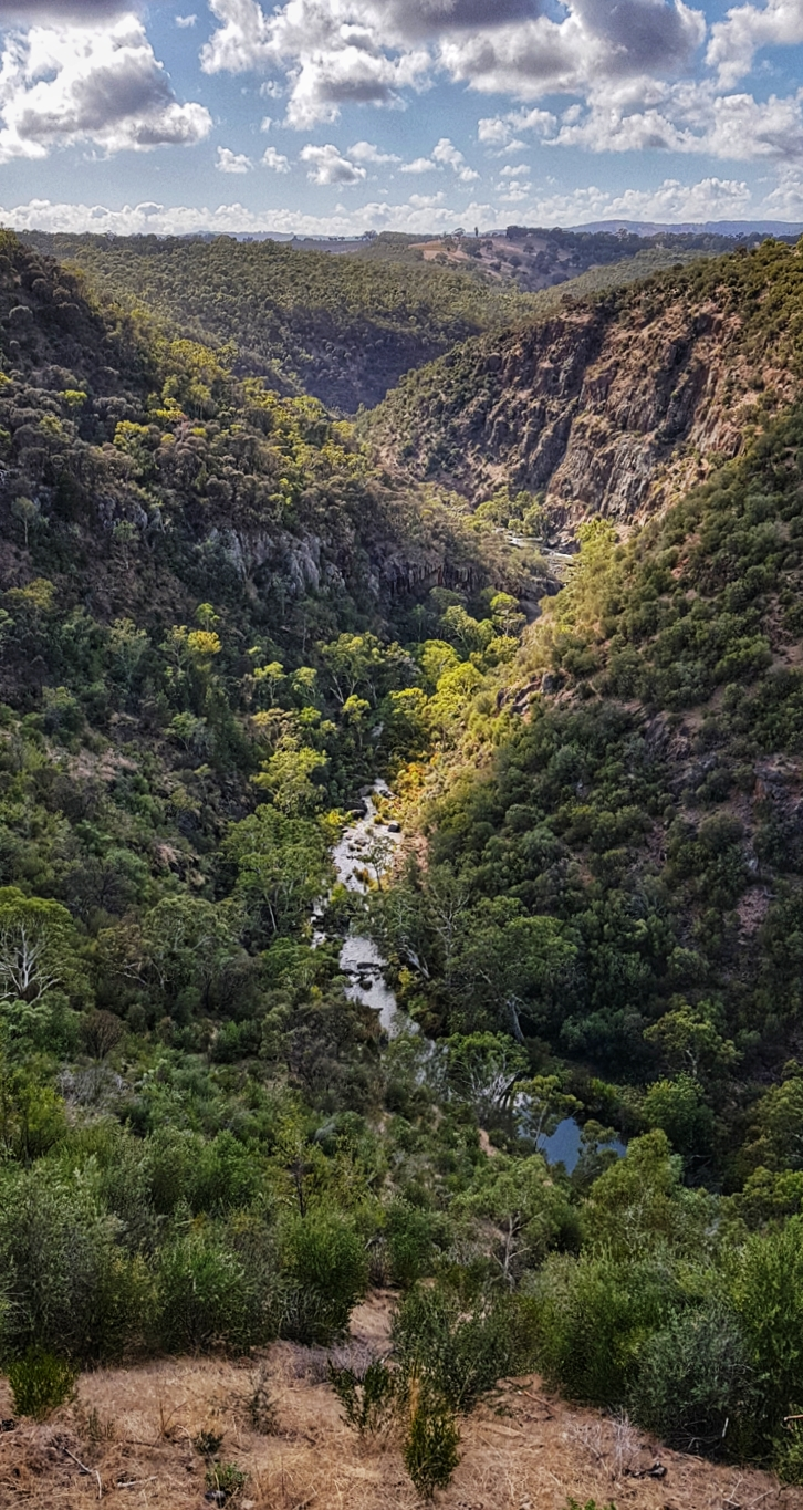 Onkaparinga Gorge from above